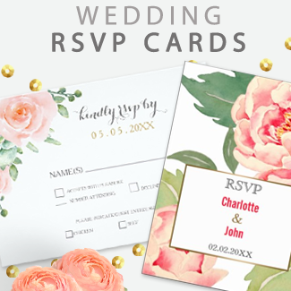 custom wedding rsvp by mgdezigns