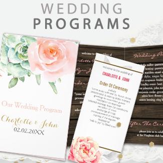 wedding programs by mgdezigns