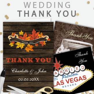 custom wedding thank you cards by mgdezigns